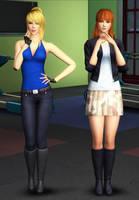 Sims 4: Samus and Kasumi by Tx-Slade-xT