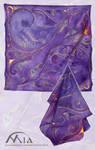 Violet Ornaments on silk by MiaErrianIrielynn