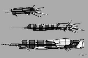 2009-04-03 Spaceships sketches by MacRebisz