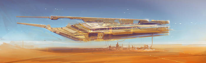 merchant ship concept by MacRebisz