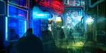 CoffeePainting: Neon street by MacRebisz