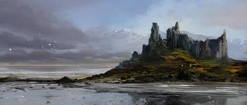 Shore castle by MacRebisz