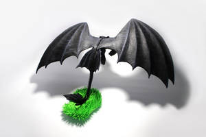 Night Fury Toothless from How to train your dragon by panteriusworkshop