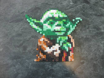 Yoda in Perler by rushtalion