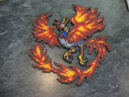 Perler Final Fantasy 6 Summon Phoenix by rushtalion