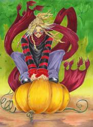 Pumpkin vampire by Szixy
