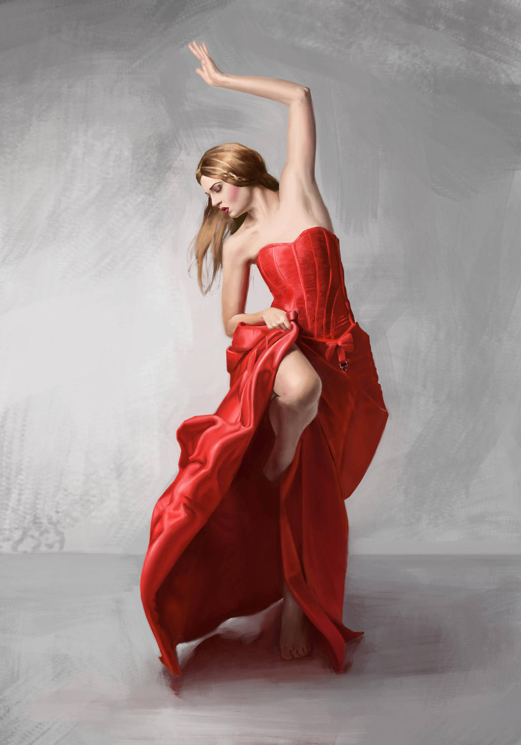 Dancing Woman in Red by Jessso