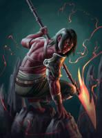 Red Lancer by Jessso