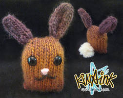Knit Orange Bunny by kina