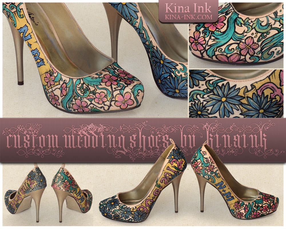 Nancy's Wedding Shoes by kina