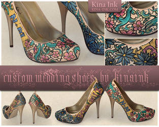 Nancy's Wedding Shoes by kina
