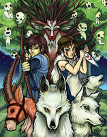 Princess Mononoke by kina