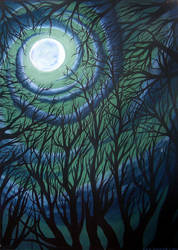 Moonlit Thicket by kina
