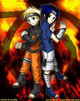 Naruto and Sasuke by kina