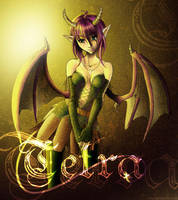 Tetra with Horns and Tail by kina