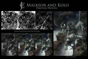 Malkeor and Kolo Painting Process by JRCoffronIII