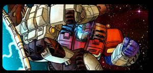 Optimus Prime vs Megatron by Blueshift2k5