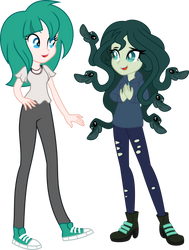Nikita and Medusa by LimeDazzle