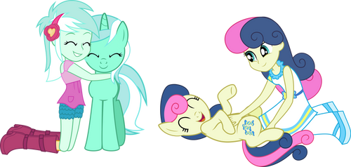 Lyra and Bon Bon by LimeDazzle