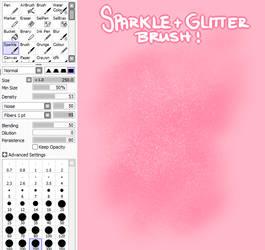 Sparkle and Glitter SAI brush by criminaIs