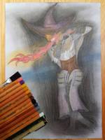 Dark Souls Pyromancer by Frakkle-art
