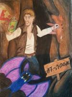 Han Solo + Pokemon - No Repel by Frakkle-art