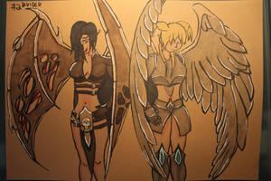 #2 Divided - Angel and Demon by Frakkle-art