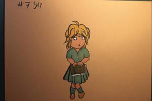 #7 Shy - Bookworm by Frakkle-art