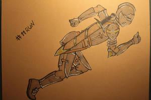 #11 Run - in Armor by Frakkle-art