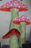 Mushroom Forest by Frakkle-art