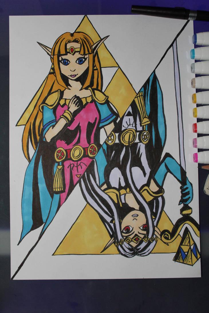 Zelda and Hilda by Frakkle-art