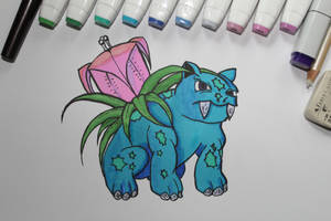 Ivysaur by Frakkle-art