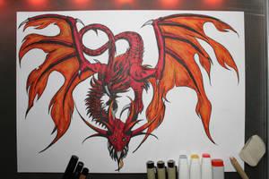 Hellkite Dragon by Frakkle-art