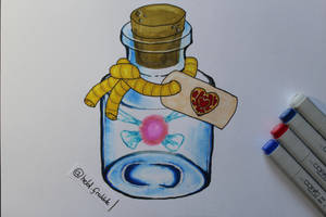 Fairy Bottle by Frakkle-art