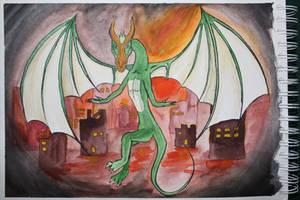 A Dragons Work by Frakkle-art