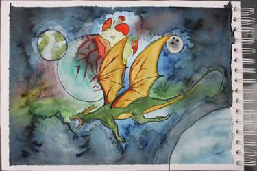 Dragons Space by Frakkle-art