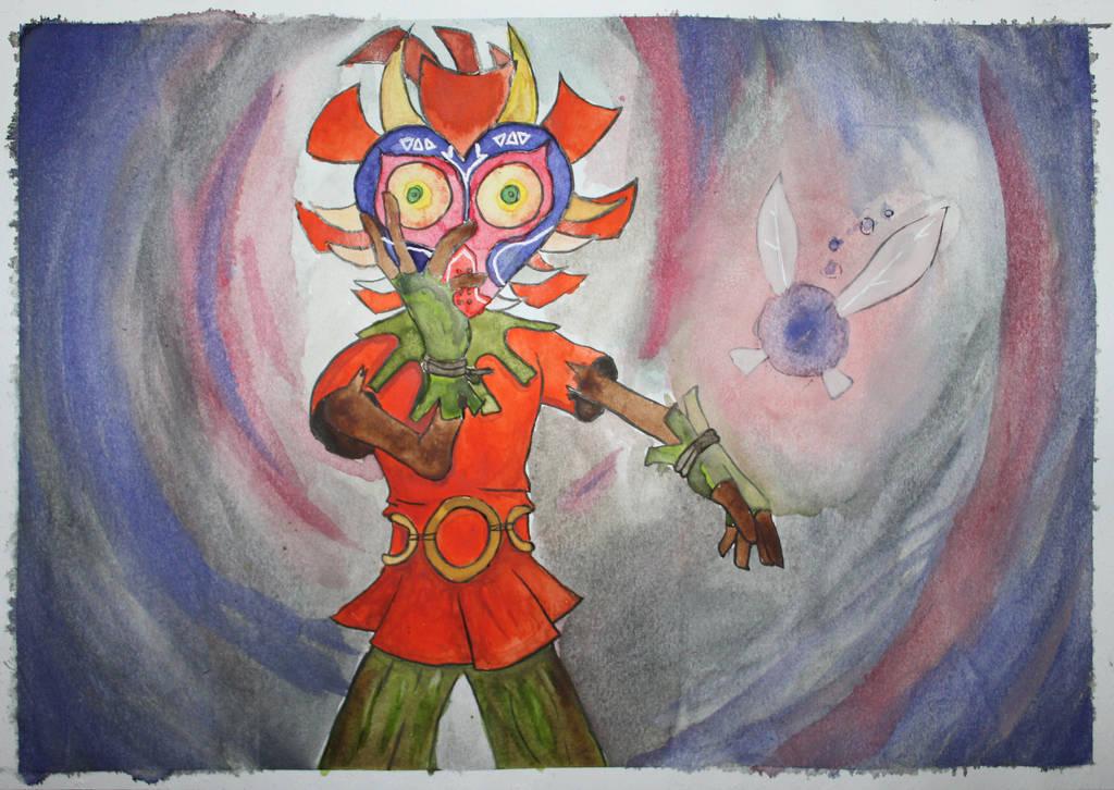 Skull Kid and Tael by Frakkle-art