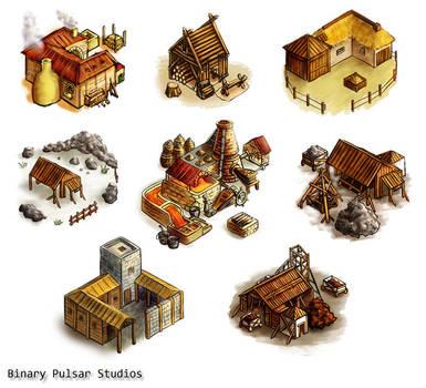 Isometric buildings by Neesha
