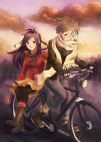 A warm ride through the cold air by Neesha