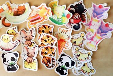 Supercute Stickers by Neesha