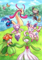 Pokemon gathering by Neesha