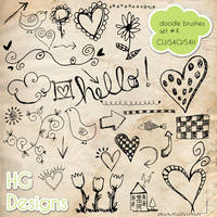 PS Brushes: Doodles 4 by HGGraphicDesigns