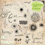 Doodle Photoshop Brushes 5 by HGGraphicDesigns