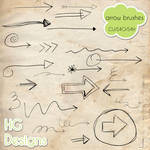 Doodle Arrow Brushes by HGGraphicDesigns