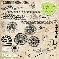 Doodle Brushes set 7 by HGGraphicDesigns