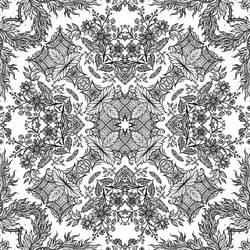 Vintage Seamless Tiling Pattern by HGGraphicDesigns