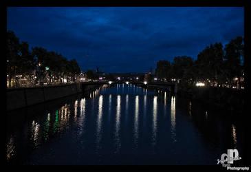 Stuttgart at night by HyenArts