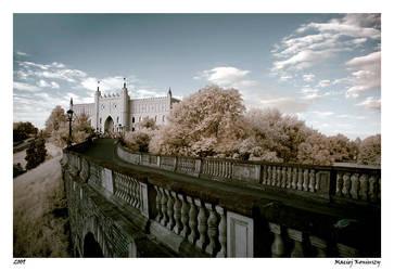 Castle in IR by Maciej-Koniuszy