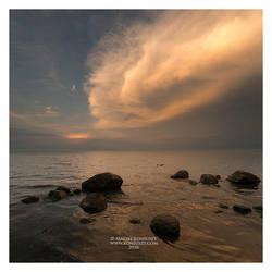 Sunset at Puck Bay by Maciej-Koniuszy