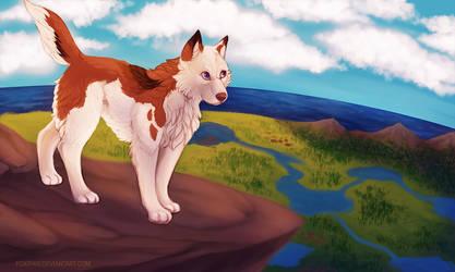 FV: Thyra Climbs A Big Ol' Rock by foxipaw